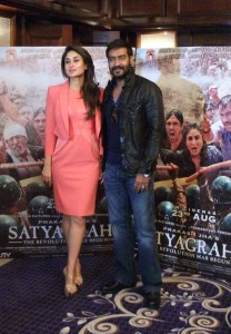 Ajay & Kareena in the UK to launch trailer