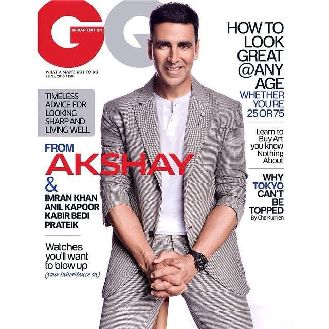 Akshay oozes with style on GQ cover