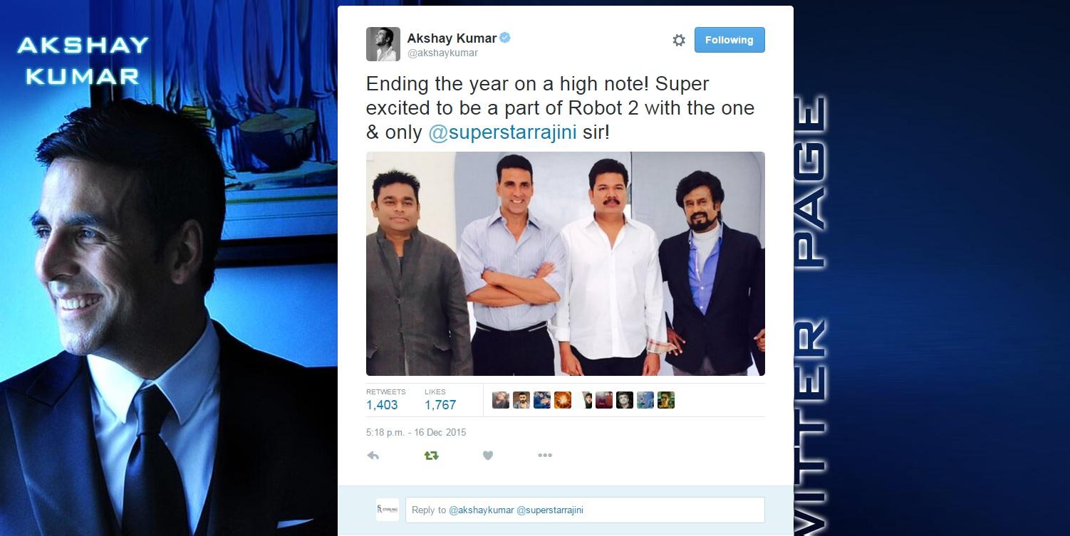 Akshay to play villain in Robot 2
