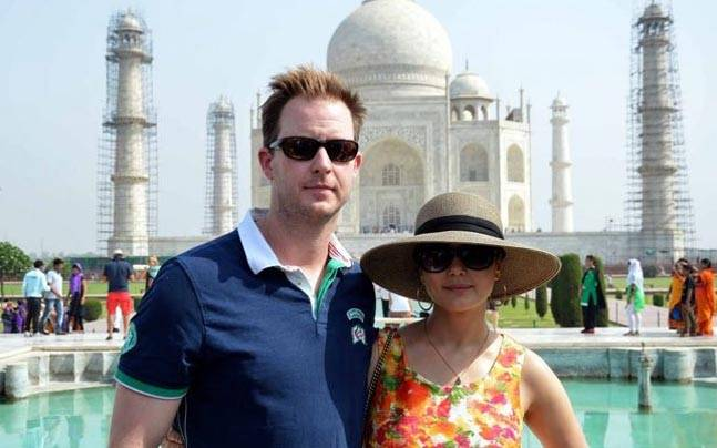Preity Zinta and husband visit Taj Mahal