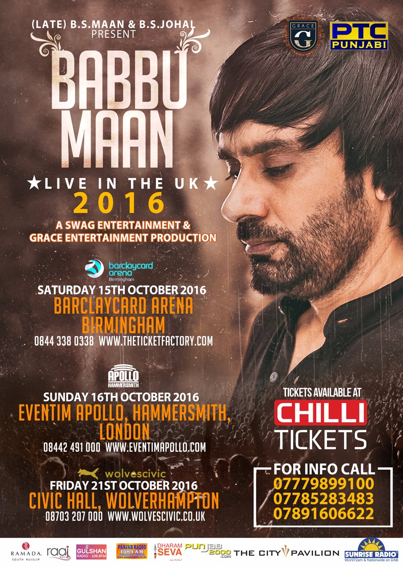 Tickets already selling fast for Babbu Maan Tour