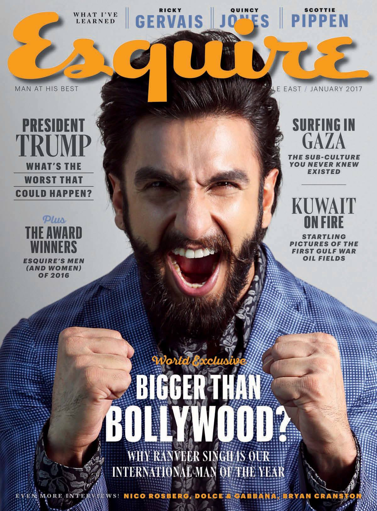 Ranveer Singh graces cover of Esquire!